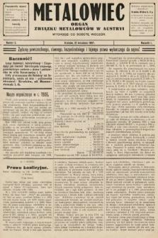 Metalowiec : organ Związku Metalowców w Austryi. R. 1. 1907, nr3
