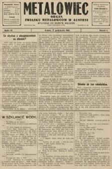 Metalowiec : organ Związku Metalowców w Austryi. R. 2. 1908, nr42