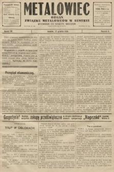 Metalowiec : organ Związku Metalowców w Austryi. R. 2. 1908, nr50