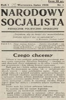 Narodowy Socjalista : miesięcznik polityczno-społeczny. 1932, nr1