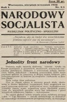 Narodowy Socjalista : miesięcznik polityczno-społeczny. 1932, nr2