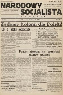 Narodowy Socjalista : tygodnik. 1936, nr16