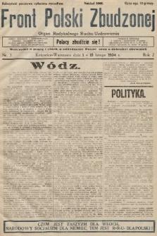 Front Polski Zbudzonej : organ Radykalnego Ruchu Uzdrowienia. 1934, nr3