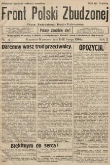 Front Polski Zbudzonej : organ Radykalnego Ruchu Uzdrowienia. 1934, nr4