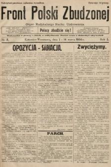 Front Polski Zbudzonej : organ Radykalnego Ruchu Uzdrowienia. 1934, nr5