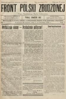 Front Polski Zbudzonej : organ Radykalnego Ruchu Uzdrowienia. 1934, nr7