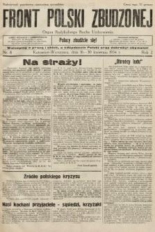 Front Polski Zbudzonej : organ Radykalnego Ruchu Uzdrowienia. 1934, nr8