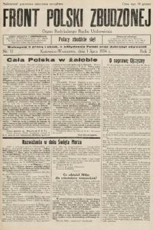 Front Polski Zbudzonej : organ Radykalnego Ruchu Uzdrowienia. 1934, nr13
