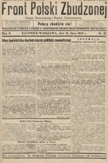 Front Polski Zbudzonej : organ Radykalnego Ruchu Uzdrowienia. 1934, nr15