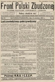 Front Polski Zbudzonej : tygodnik polityczny, gospodarczy i literacki. 1934, nr23