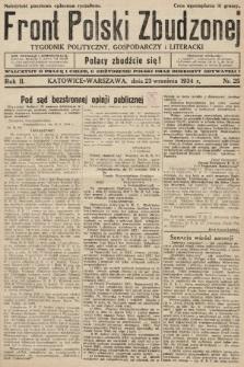 Front Polski Zbudzonej : tygodnik polityczny, gospodarczy i literacki. 1934, nr25