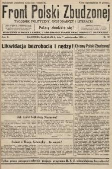 Front Polski Zbudzonej : tygodnik polityczny, gospodarczy i literacki. 1934, nr27
