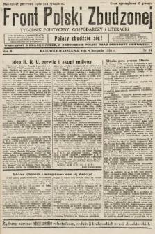 Front Polski Zbudzonej : tygodnik polityczny, gospodarczy i literacki. 1934, nr31