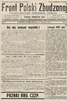 Front Polski Zbudzonej : tygodnik polityczny, gospodarczy i literacki. 1934, nr32