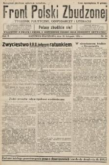 Front Polski Zbudzonej : tygodnik polityczny, gospodarczy i literacki. 1934, nr34