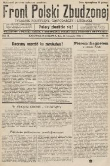 Front Polski Zbudzonej : tygodnik polityczny, gospodarczy i literacki. 1934, nr35