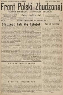 Front Polski Zbudzonej : tygodnik polityczny, gospodarczy i literacki. 1935, nr1