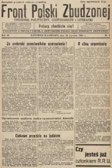 Front Polski Zbudzonej : tygodnik polityczny, gospodarczy i literacki. 1935, nr3
