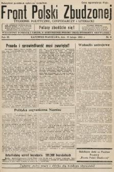 Front Polski Zbudzonej : tygodnik polityczny, gospodarczy i literacki. 1935, nr6
