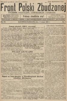 Front Polski Zbudzonej : tygodnik polityczny, gospodarczy i literacki. 1935, nr7