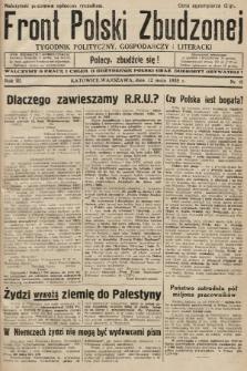 Front Polski Zbudzonej : tygodnik polityczny, gospodarczy i literacki. 1935, nr19