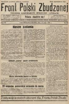 Front Polski Zbudzonej : tygodnik gospodarczy, społeczny i literacki. 1935, nr20