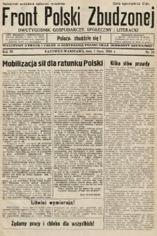 Front Polski Zbudzonej : dwutygodnik gospodarczy, społeczny i literacki. 1935, nr24