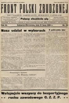 Front Polski Zbudzonej : dwutygodnik gospodarczy, społeczny i literacki. 1935, nr25