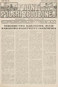 Front Polski Zbudzonej : dwutygodnik - pismo nowej Polski. 1938, nr14