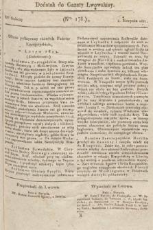 Dodatek do Gazety Lwowskiej : doniesienia urzędowe. 1821, nr178