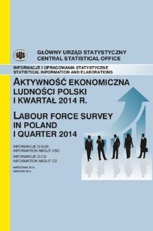 Aktywnosc Ekonomiczna Ludnosci Polski I Kwartal 2014 Jagiellonian