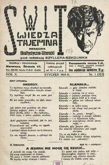 Świt : wiedza tajemna : miesięcznik okultystyczno-literacki. 1935, nr1
