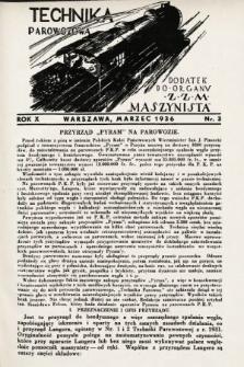 """Technika Parowozowa : dodatek do organu Z.Z.M. """"Maszynista"""". 1936, nr3"""