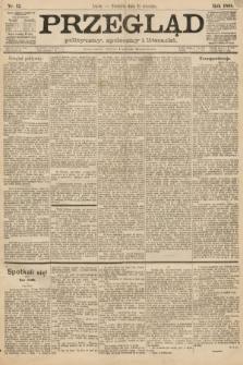 Przegląd polityczny, społeczny i literacki. 1888, nr12