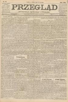 Przegląd polityczny, społeczny i literacki. 1888, nr87