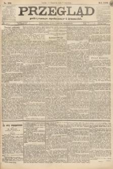 Przegląd polityczny, społeczny i literacki. 1888, nr206