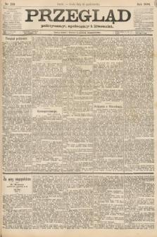 Przegląd polityczny, społeczny i literacki. 1888, nr233