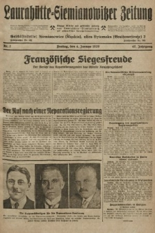 Laurahütte-Siemianowitzer Zeitung : enzige älteste und gelesenste Zeitung von Laurahütte-Siemianowitz mit wöchentlicher Unterhaitungsbeilage. 1929, nr2