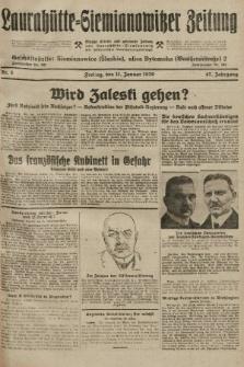 Laurahütte-Siemianowitzer Zeitung : enzige älteste und gelesenste Zeitung von Laurahütte-Siemianowitz mit wöchentlicher Unterhaitungsbeilage. 1929, nr6