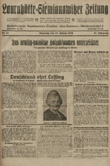 Laurahütte-Siemianowitzer Zeitung : enzige älteste und gelesenste Zeitung von Laurahütte-Siemianowitz mit wöchentlicher Unterhaitungsbeilage. 1929, nr12