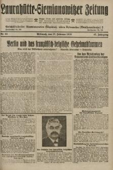 Laurahütte-Siemianowitzer Zeitung : enzige älteste und gelesenste Zeitung von Laurahütte-Siemianowitz mit wöchentlicher Unterhaitungsbeilage. 1929, nr33