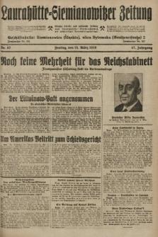 Laurahütte-Siemianowitzer Zeitung : enzige älteste und gelesenste Zeitung von Laurahütte-Siemianowitz mit wöchentlicher Unterhaitungsbeilage. 1929, nr42