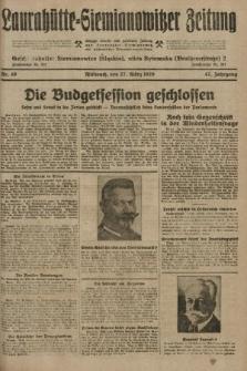 Laurahütte-Siemianowitzer Zeitung : enzige älteste und gelesenste Zeitung von Laurahütte-Siemianowitz mit wöchentlicher Unterhaitungsbeilage. 1929, nr49