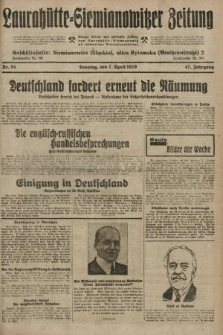 Laurahütte-Siemianowitzer Zeitung : enzige älteste und gelesenste Zeitung von Laurahütte-Siemianowitz mit wöchentlicher Unterhaitungsbeilage. 1929, nr54