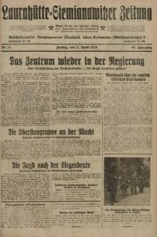 Laurahütte-Siemianowitzer Zeitung : enzige älteste und gelesenste Zeitung von Laurahütte-Siemianowitz mit wöchentlicher Unterhaitungsbeilage. 1929, nr57