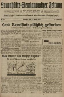 Laurahütte-Siemianowitzer Zeitung : enzige älteste und gelesenste Zeitung von Laurahütte-Siemianowitz mit wöchentlicher Unterhaitungsbeilage. 1929, nr62