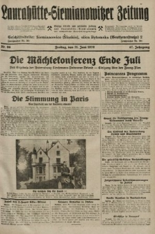 Laurahütte-Siemianowitzer Zeitung : enzige älteste und gelesenste Zeitung von Laurahütte-Siemianowitz mit wöchentlicher Unterhaitungsbeilage. 1929, nr96