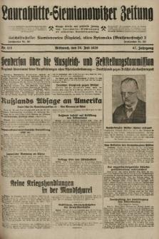 Laurahütte-Siemianowitzer Zeitung : enzige älteste und gelesenste Zeitung von Laurahütte-Siemianowitz mit wöchentlicher Unterhaitungsbeilage. 1929, nr115