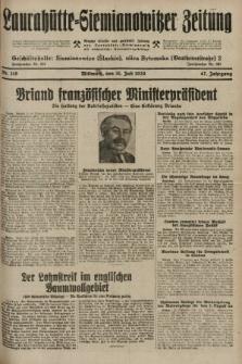 Laurahütte-Siemianowitzer Zeitung : enzige älteste und gelesenste Zeitung von Laurahütte-Siemianowitz mit wöchentlicher Unterhaitungsbeilage. 1929, nr119