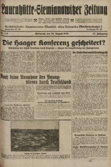 Laurahütte-Siemianowitzer Zeitung : enzige älteste und gelesenste Zeitung von Laurahütte-Siemianowitz mit wöchentlicher Unterhaitungsbeilage. 1929, nr135